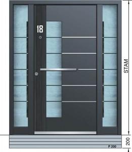Haustür Eingangstür Aluminium