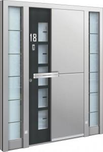 Eingangstüren Aluminium mit Seitenteil