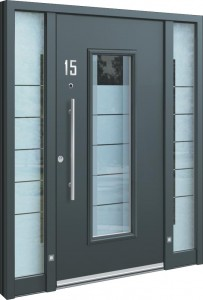 aluminium haust ren mit seitenteil aluminium haust ren. Black Bedroom Furniture Sets. Home Design Ideas