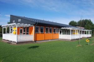Container Schule und Kidnergarten