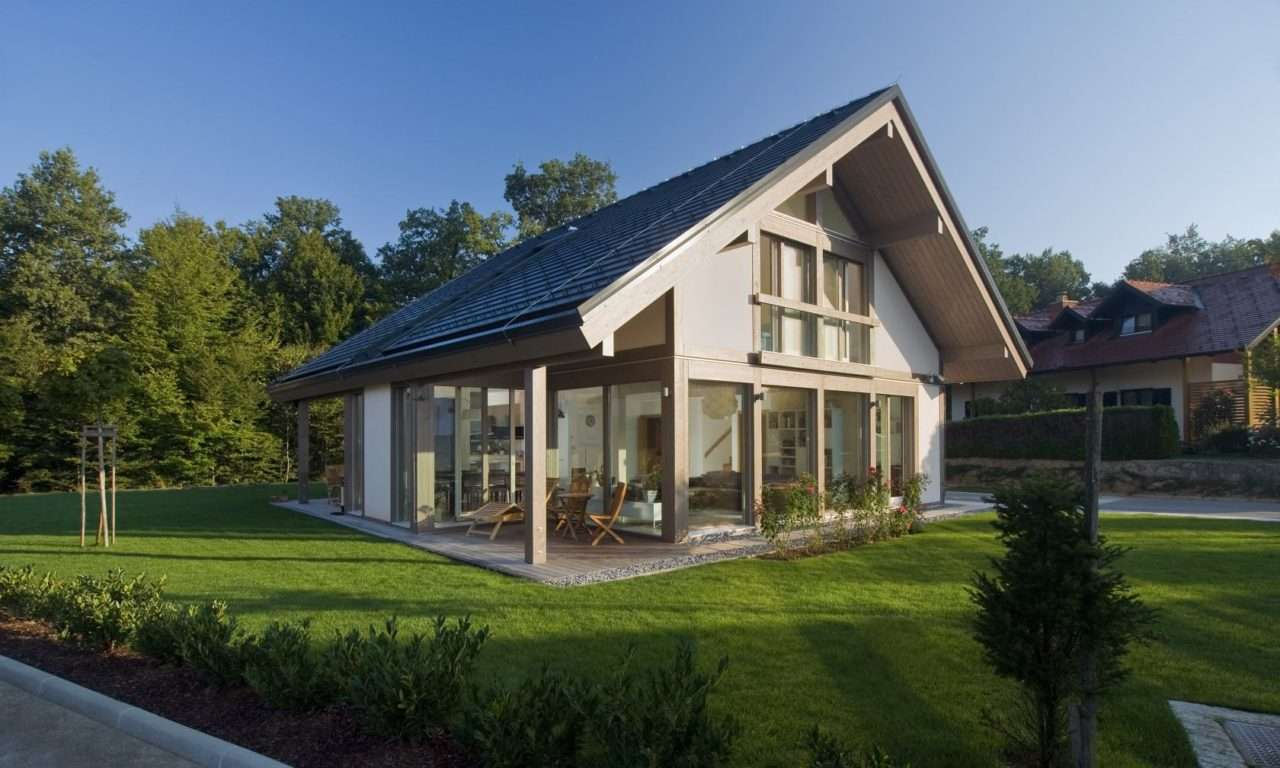 Glas Fachwerkhaus