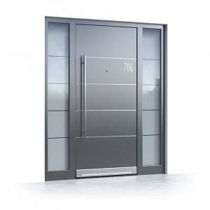 Haustür mit Glaselement und Seitenteil