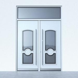 Haustüren weiß mit Glaselement