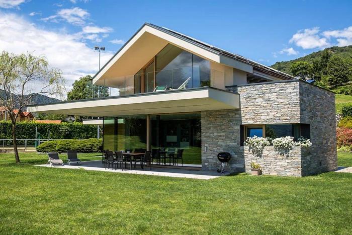 Modernes Haus Grundriss Haus Mit Flachdach Oder Mit Walmdach
