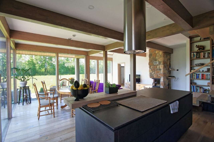 Holz Glas Haus