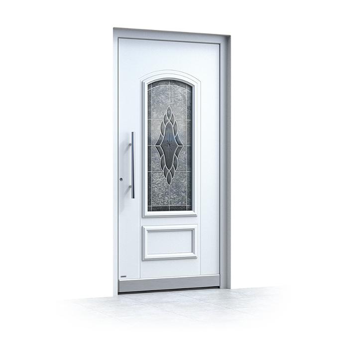Haustür Weiß mit Glas