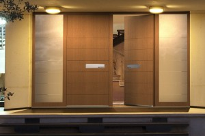 Haustür Holz modern