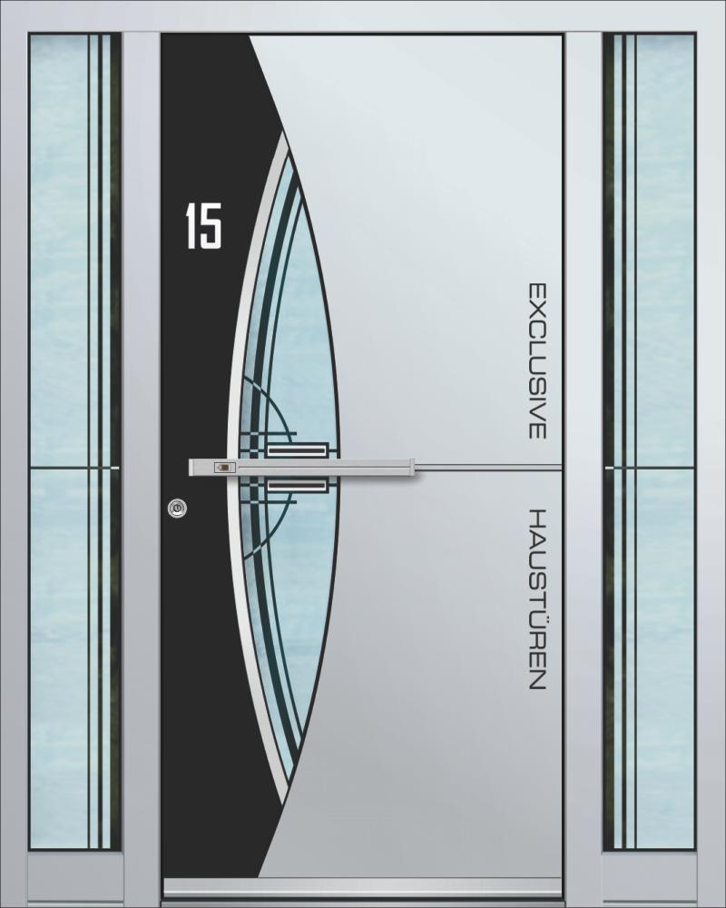 Top Haustüren Alu Weiß | Alle zusammen AB56