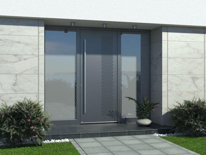Haustür Aluminium mit Seitenteil