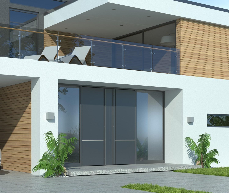 moderne Alu Haustüren