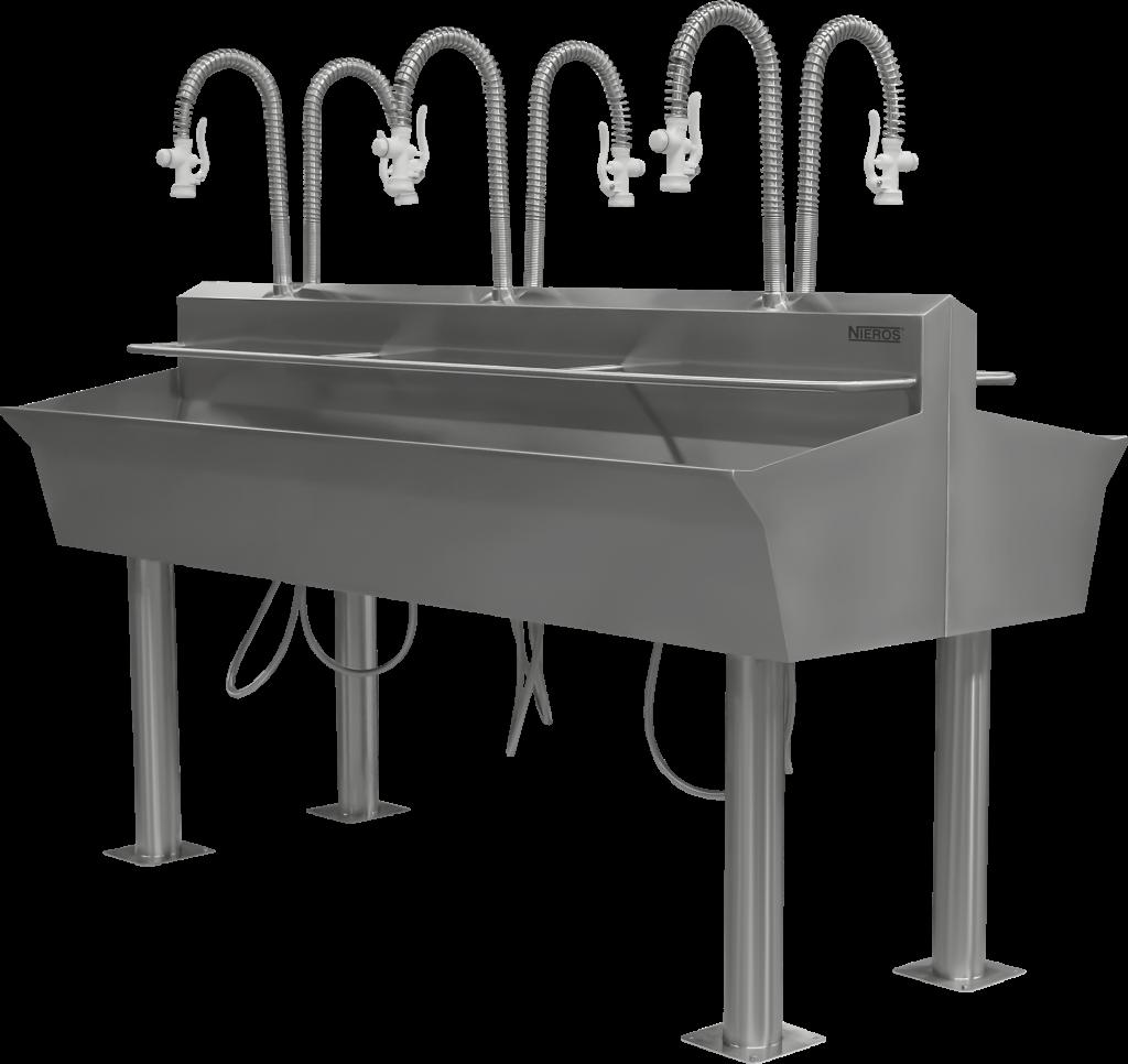 Waschrinnen aus Edelstahl sind in verschiedenen Größen erhältlich